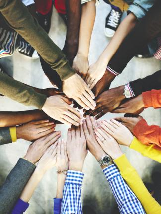 diversity hands in